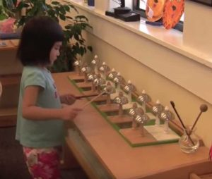 Montessori Bells Audiological Sensory Education Activity