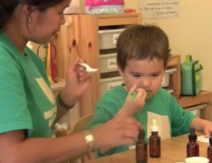 Tasting Bottles Montessori Program Education Sensory Activity