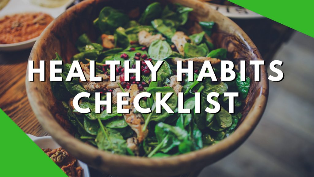 Healthy Habits Daily Checklist