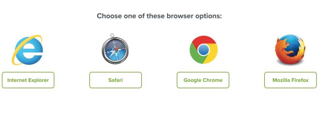 EveryDollar Supported Browsers - Chrome, Safari, Firefox, IE