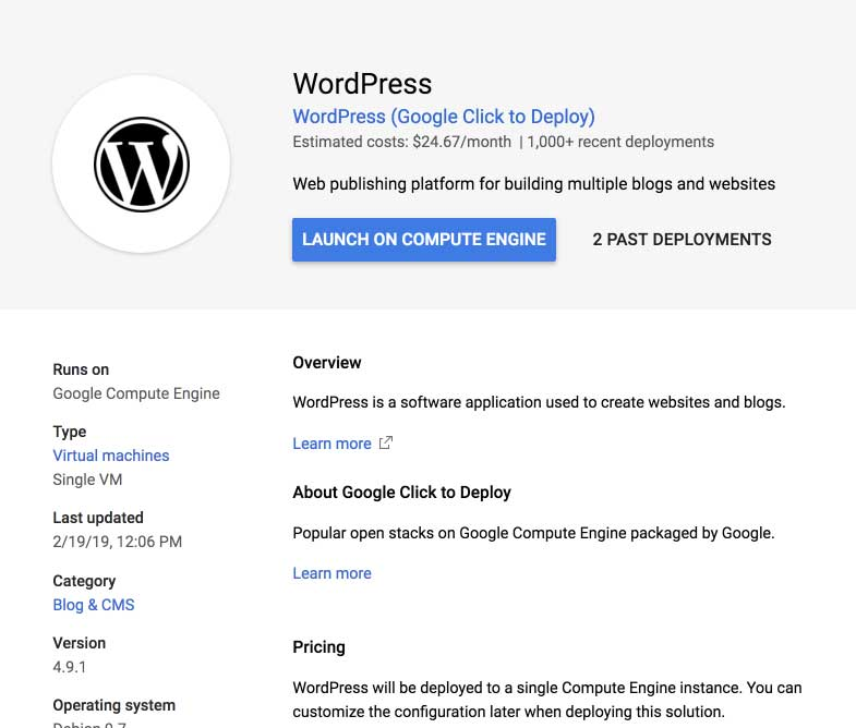 WordPress Migration to Google Cloud Platform