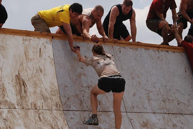 Climber Receiving Help
