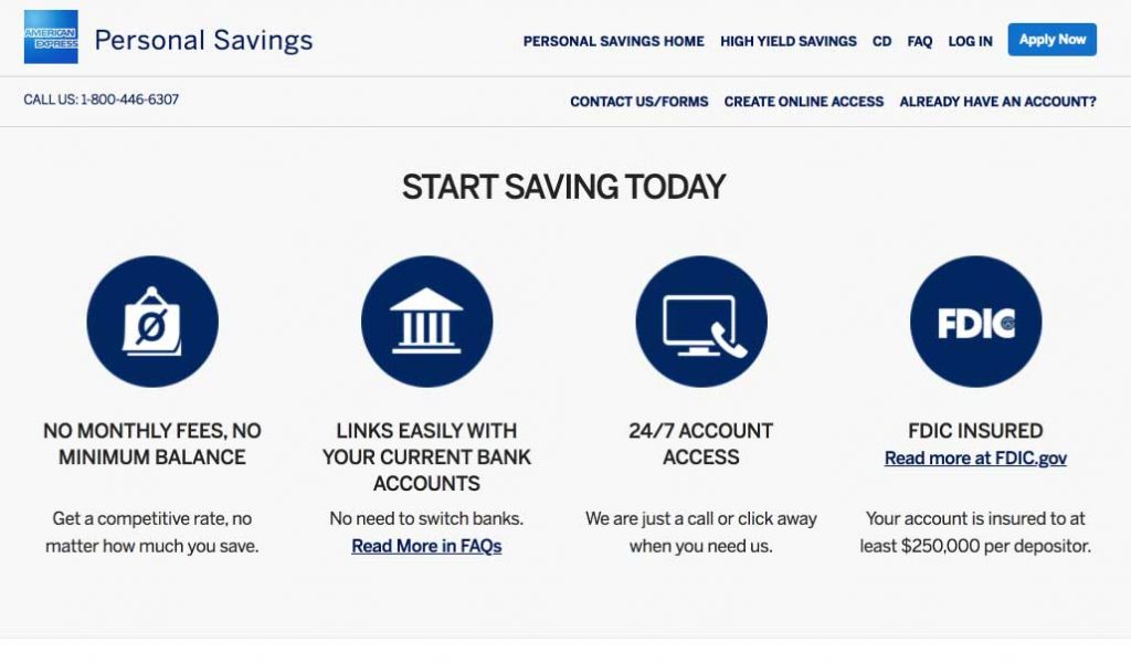 American Express High Yield Personal Savings Account