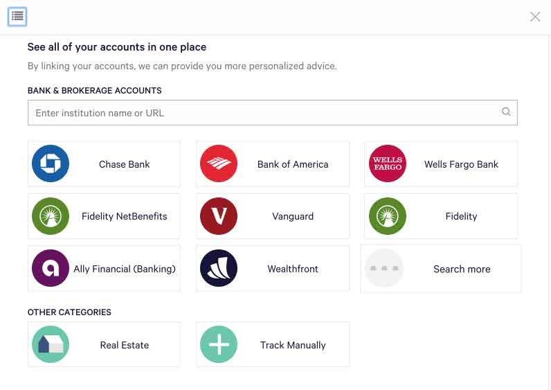 Wealthfront Link Bank Accounts for Savings and Investment funding