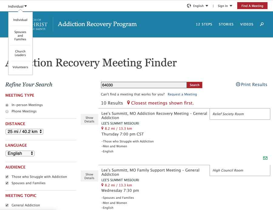 Stop Smoking Latter-day Saint Addiction Recovery Group Meeting Finder