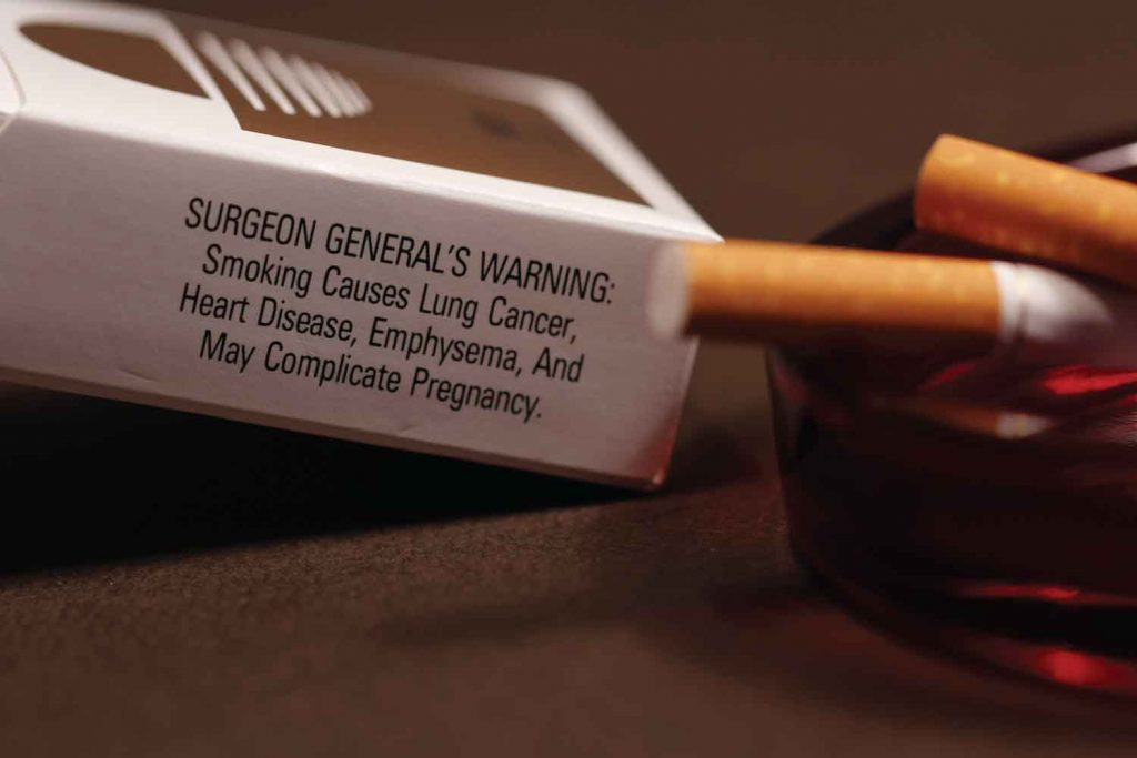 Cigarettes Cause Cancer - Surgeon General Warning