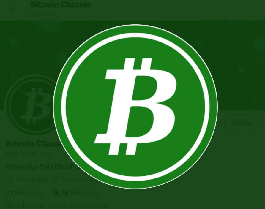 Bitcoin Classic Cryptocurrency Logo