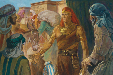 Famine in Egypt: Joseph and Pharoah Ready