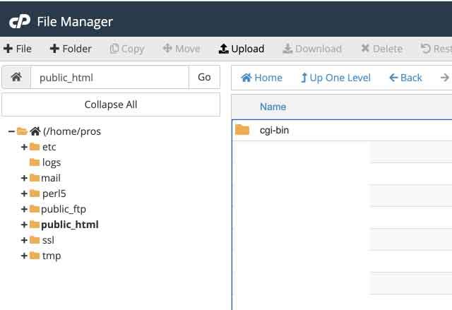File Manager for Uploading WordPress Files