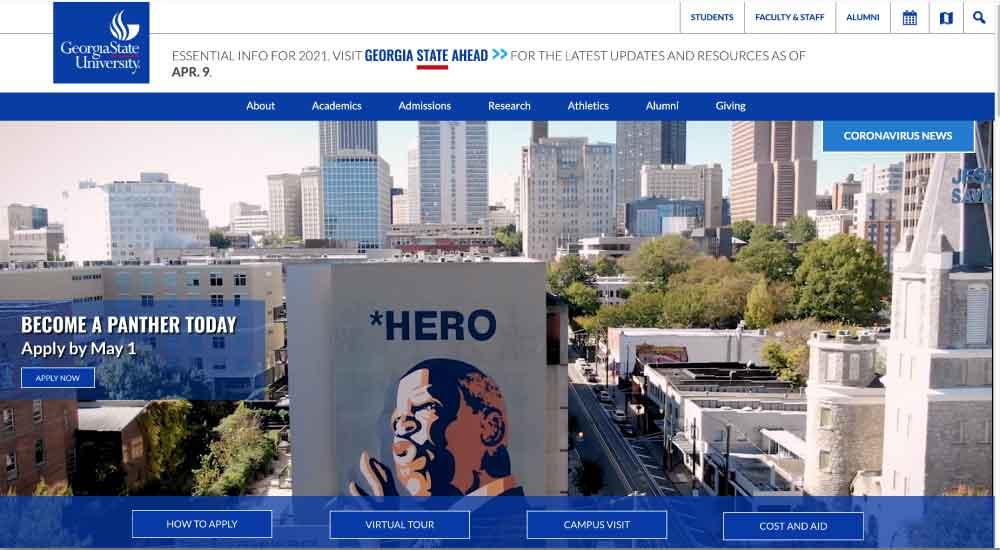 Georgia State University WordPress Website
